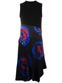 платье с рисунком 'Rose' DKNY