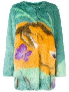 пальто из искусственного меха Marco De Vincenzo