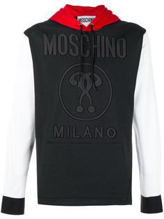 толстовка с капюшоном и поплиновыми рукавами Moschino