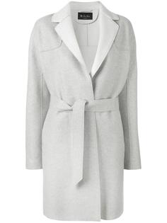 пальто с поясом и контрастной изнанкой Loro Piana