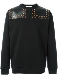 толстовка с кожаными вставками и заклепками Givenchy