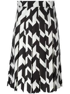 плиссированная юбка с геометрическим принтом Salvatore Ferragamo
