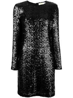 приталенное платье с пайетками Tory Burch
