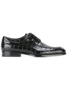 ботинки-дерби с крокодиловым эффектом Giorgio Armani