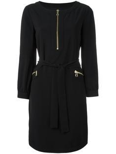 платье с поясом и молниями Boutique Moschino