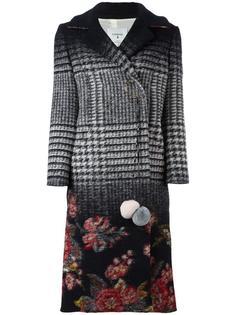 пальто миди с комбинированным принтом Dondup