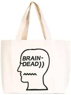 сумка-тоут с принтом-логотипом Brain Dead