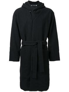 hooded robe coat Gold