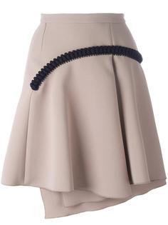 плиссированная юбка с аппликацией Carven