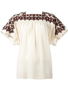 square neck loose-fit blouse Masscob