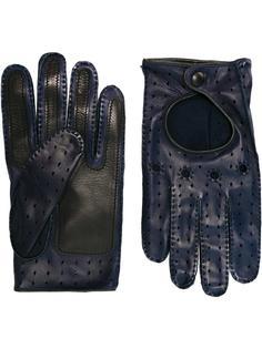 перфорированные перчатки Etro