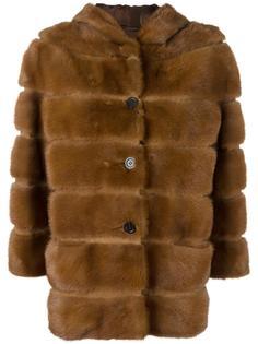 меховая куртка с капюшоном Simonetta Ravizza