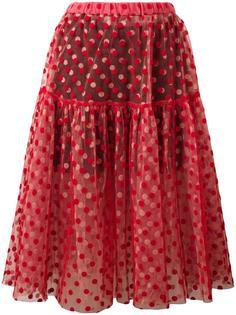 многослойная юбка с узором в горох Paskal