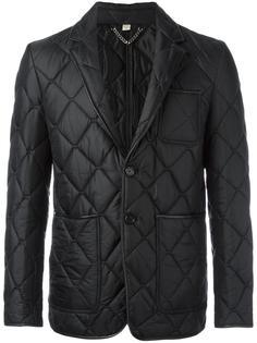 стеганый однобортный пиджак  Burberry