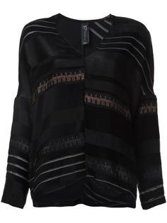 striped v neck blouse Zero + Maria Cornejo