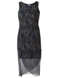 v-neck printed dress Egrey