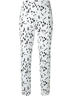 printed slim fit trousers Andrea Marques