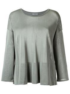 boat neck knit blouse Egrey