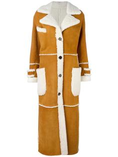 длинное пальто на пуговицах Simonetta Ravizza