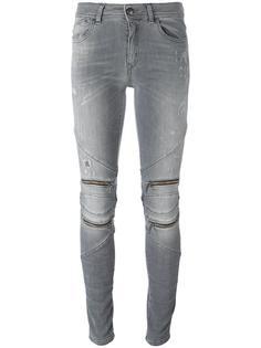 джинсы скинни с молниями Just Cavalli