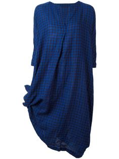 checked V-neck dress Daniela Gregis