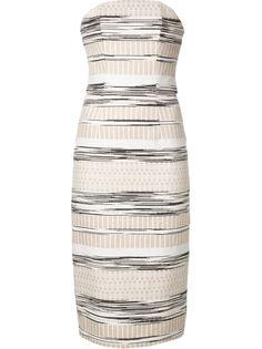 тканое полосатое платье Christian Siriano
