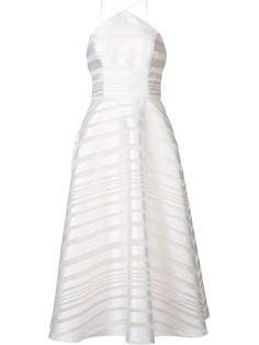 """полосатое платье с вырезом """"халтер"""" Christian Siriano"""