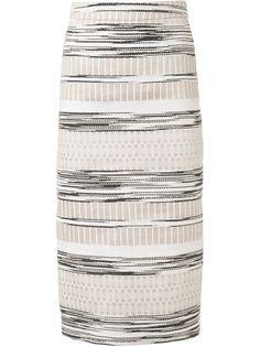 тканая полосатая юбка Christian Siriano