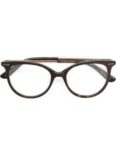 оптические очки в круглой оправе Bottega Veneta Eyewear