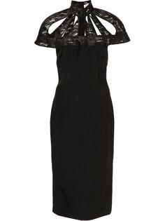 платье с вырезными деталями Christian Siriano