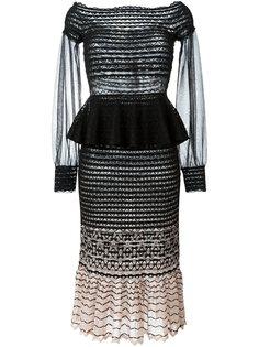 вязаное платье с приспущенными плечами Alexander McQueen