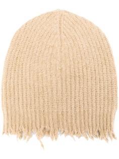 шапка-бини в рубчик с необработанными краями MSGM