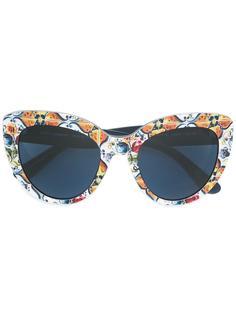 солнцезащитные очки с принтом Majolica Dolce & Gabbana