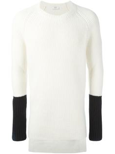 пуловер в рубчик с контрастными рукавами Ports 1961