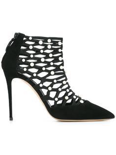 туфли с резным узором Casadei
