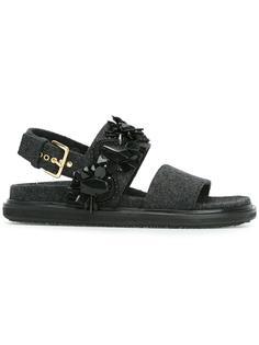 декорированные сандалии  'Fussbett'  Marni