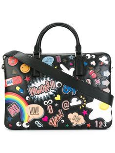 портфель с нашивками  Anya Hindmarch
