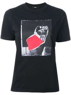 футболка с принтом Yang Li