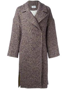 однобортное твидовое пальто Cacharel