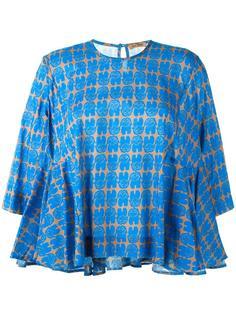 расклешенная блузка с узором Peter Jensen