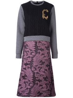 платье с вязаным верхом и кружевной юбкой Christian Pellizzari