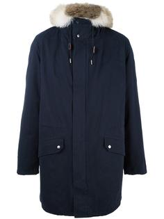 пальто свободного кроя с капюшоном Yves Salomon Homme