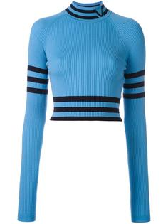 укороченный свитер с высокой горловиной Versace