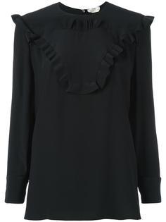 блузка с отделкой оборками Fendi