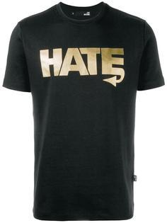 футболка с принтом 'Hate' Love Moschino