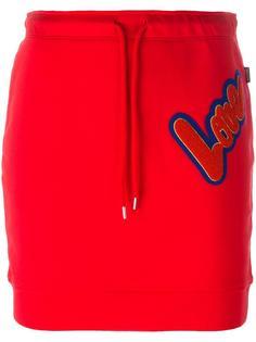 юбка с нашивкой 'Love' Love Moschino