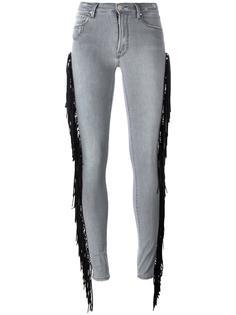 джинсы кроя скинни с бахромой Don't Cry