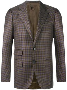 checked blazer Caruso