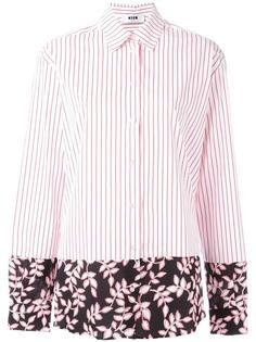 рубашка с контрастным подолом MSGM