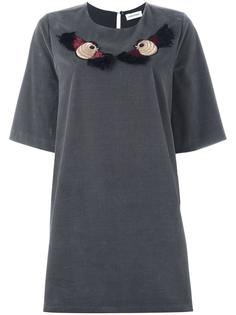 embroidered bird T-shirt dress Au Jour Le Jour